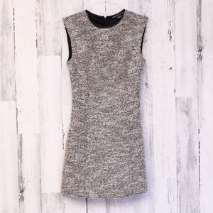 Armani Exchange Fuzzy Wool Blend Shift Dress 0P